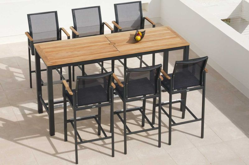 AURA High Dining Gruppe in graphite