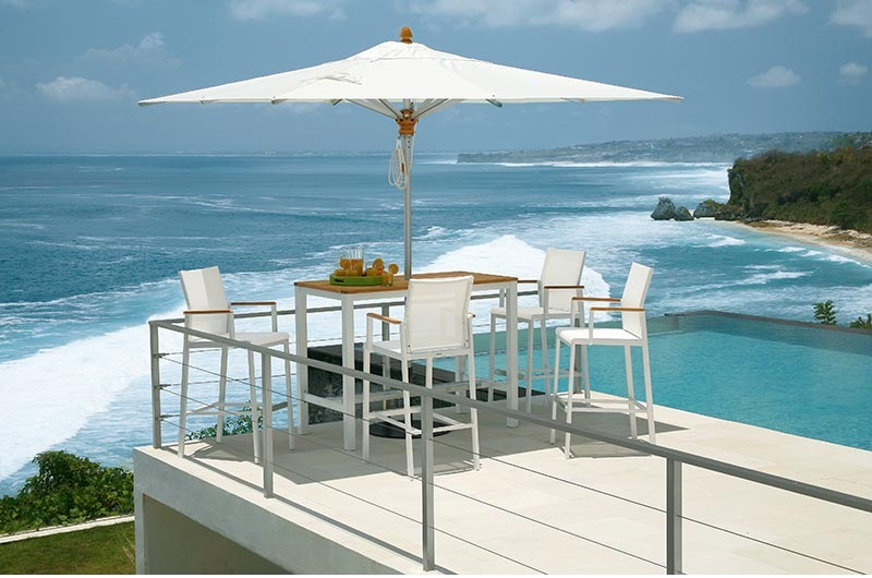 AURA High Dining Gruppe in artic-white
