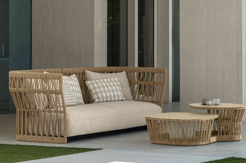 CLIFF Lounge 3-Sitzer Sofa - in heller Variante