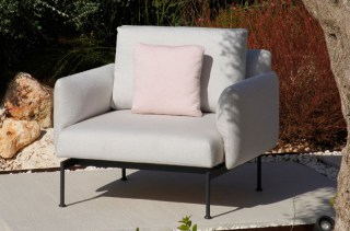 LAYOUT Lounge-Sessel, in Gestell grey